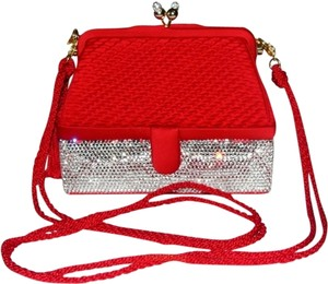 Judith Leiber Collectible Handbags Evening Red Handbags Formal Holiday Shoulder Bag