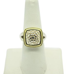 C.Krypell C. KRYPELL PYTHON COLLECTION BUTTON RING 14K YELLOW GOLD/925