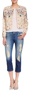 Alice + Olivia Cropped Boyfriend Jean Capri/Cropped Denim-Distressed