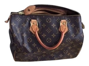 Louis Vuitton Speedy 30 Monogram Brown Satchel in Brown Monogram