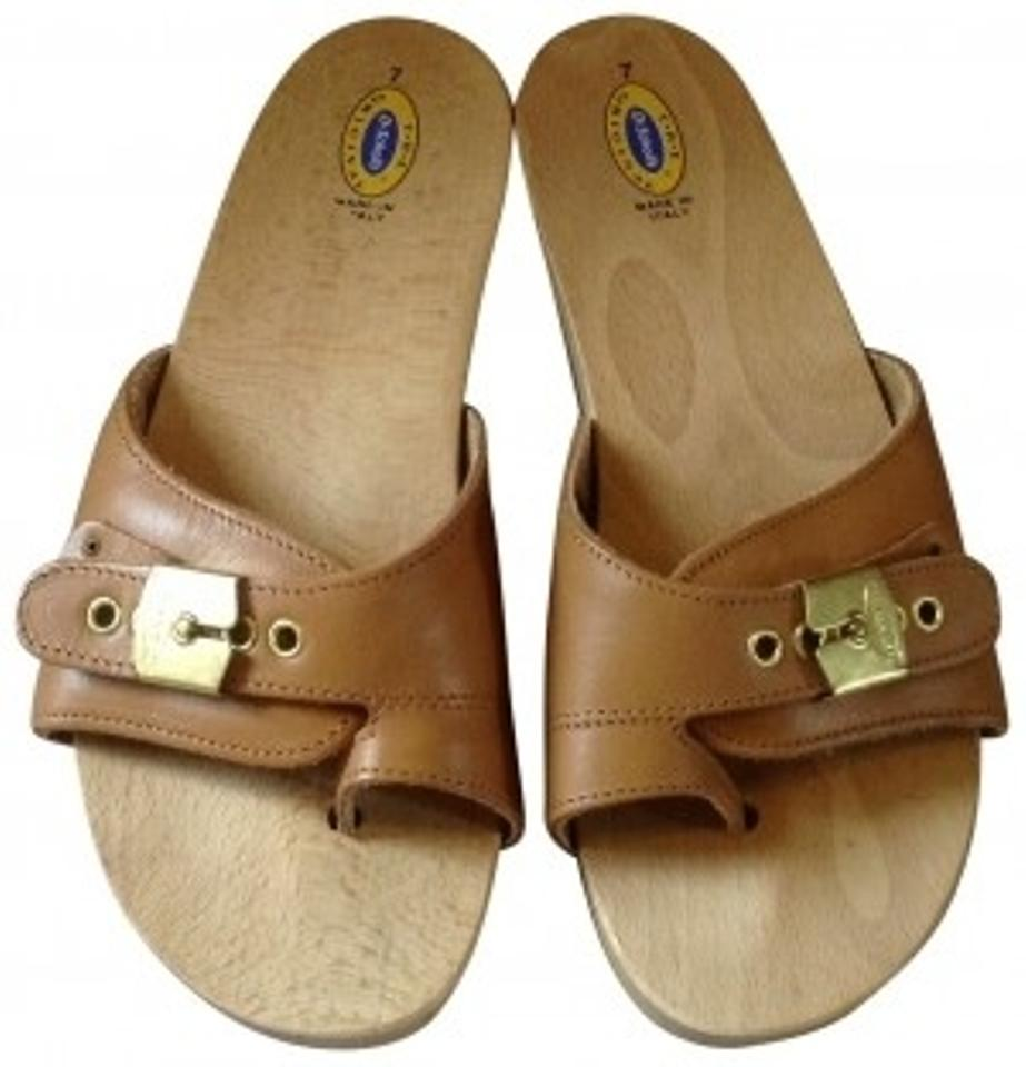 be5fc51da3c7 Dr. Scholl s Leather Wood Exercise Size 7 tan Sandals Image 0 ...