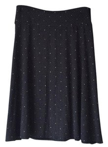 Ann Taylor Skirt Navy polka dot