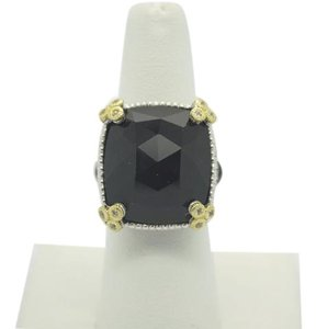Judith Ripka JUDITH RIPKA 18K Yellow Gold & Silver MONACO Black Diamond Onyx Ring