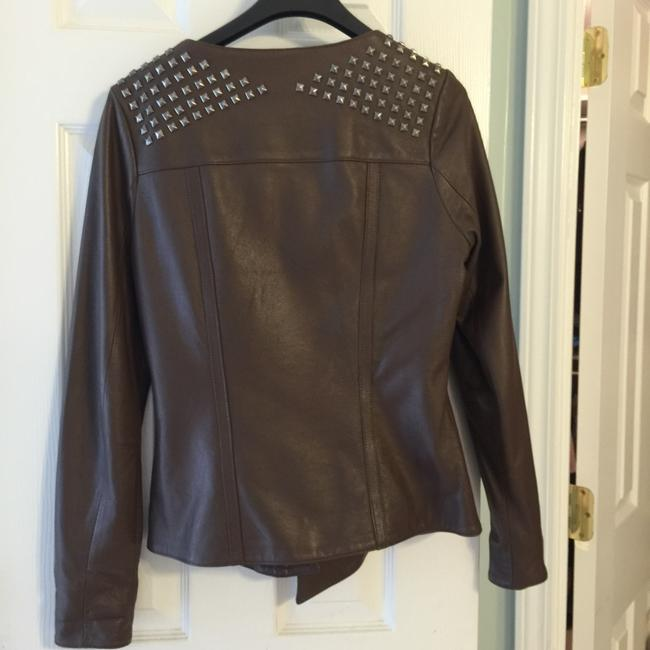 Madison Marcus Blazer Coat Studded Rockstar Brown Leather Jacket