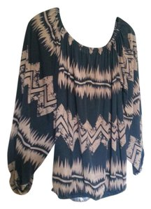 Emma Rose Top Black and brown