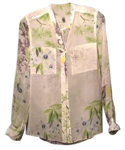 BCBGMAXAZRIA Button Down Shirt Multi