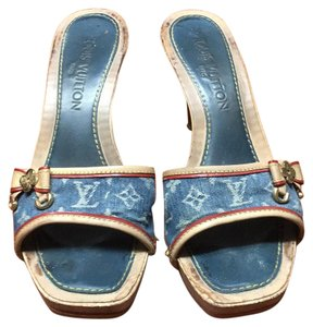 Louis Vuitton Blue jean Mules