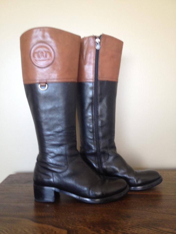 0c243884d0f Etienne Aigner Black Brown Leather Riding Boots/Booties Size US 6 Regular  (M, B) 88% off retail