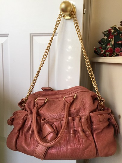 Adrienne Vittadini Tote in Pink w/ rosegold mixed