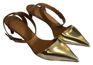 See by Chloé Gold & camel Pumps