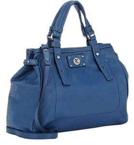 Marc by Marc Jacobs Leather Turnlock Tote in Deep Blue