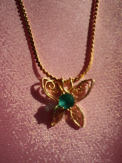 Other Like new Vintage Butterfly w/green stone