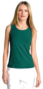 Eileen Fisher U-neck Soft Jersey Top Lagoon