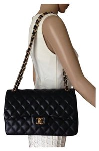 Chanel 2.55 Flap Jumbo Classic Lambskin Shoulder Bag