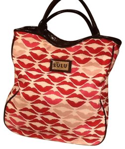 Lulu Guinness Tote in White,pink,red