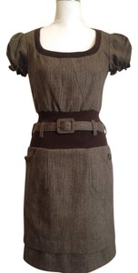 Dolce&Gabbana short dress Brown Nwot Bodycon Sheath Wool 30s on Tradesy