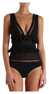 New Sexy Black One PC Bathing Suit Tag SZ XLarge (Fits US Large Best)