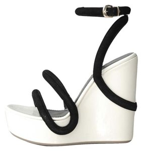 Emporio Armani white Wedges
