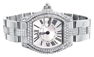 Cartier Ladies Cartier Roadster W62016v3 Square Quartz Diamond Watch With 9.25 Ct