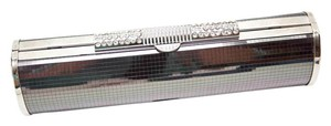 Rhinestones Mirrored Silver Smoke Clutch