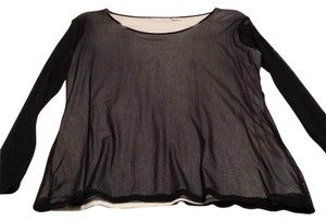 Soft Surroundings Top Black and cream