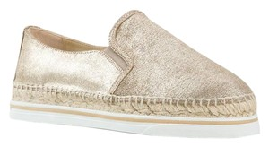 Jimmy Choo Dawn Suede Espadrille Sneaker Metallic Platforms
