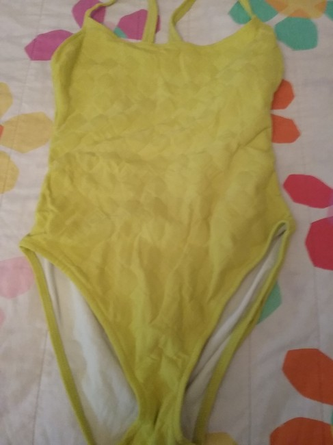 Item - Lime Green Italian One-piece Bathing Suit Size 14 (L)