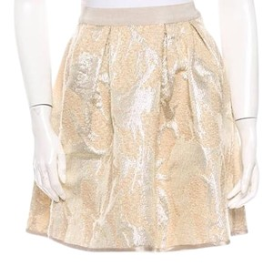 By Malene Birger Mini Skirt Beige and gold