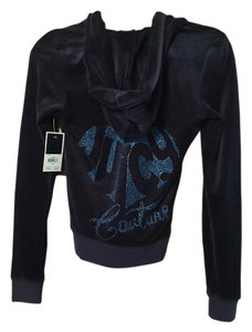 Juicy Couture Juicy Couture Jacket, Velour Blue, Blue Heart
