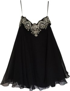 Other Strapless Evening Above Knee Size Small Silk Elegant Empire Waist Prom Crystals Formal Embellished Strapless Waist Dress