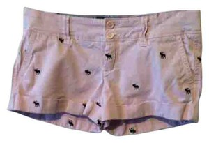 Abercrombie & Fitch & Cuffed Shorts Pink