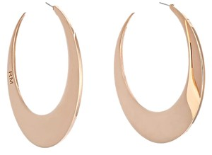 Rebecca Minkoff Rose Gold New Rebecca Minkoff Flat Hoop Earrings