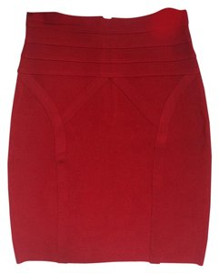 bebe Mini Skirt Red