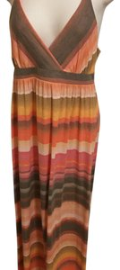Peach and brown Maxi Dress by Mudd