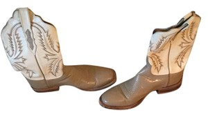 Lucchese beige and white Boots