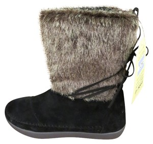 TOMS Faux Fur Suede Boot Black Boots