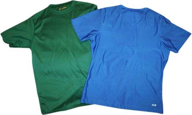 Champion Athletic Dri-fit T Shirt Blue and Green