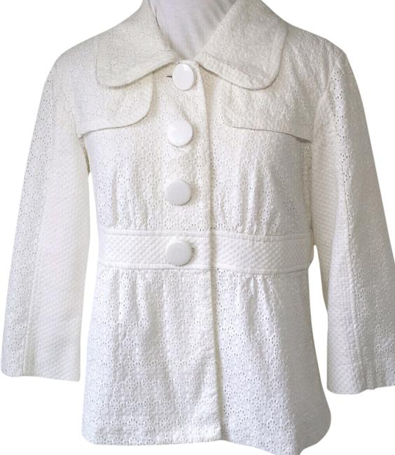 Mac & Jac And Eyelet Ket Summer Ket Cotton White Jacket
