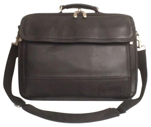 Targus Leather Briefcase Travel Men's Computer Laptop Bag