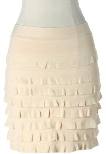 3.1 Phillip Lim Ruffle Mini Skirt Beige