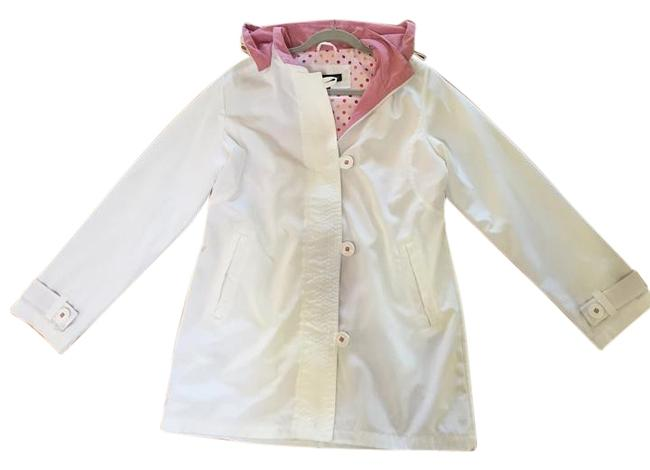 Item - White with Pink Trim Coat Size 8 (M)