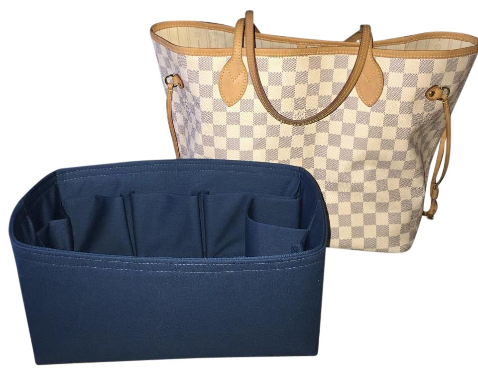 dd68bc216d6e Louis Vuitton Neverfull Mm Purse Organizer Like Samorga For Your  Handbag Monogram  Damier Azur Ebene Limited Teal Twill Cotton Canvas Tote