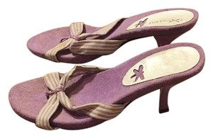 Charles David Purple and white Pumps
