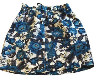 Ann Tayor Loft Skirt Indigo and cream