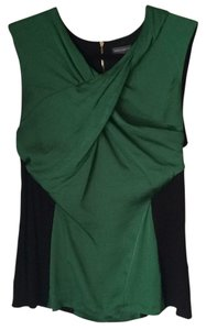 Vince Camuto Top Black and kelly green