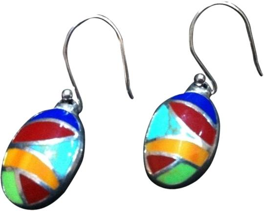 0 Degrees Turquoise and .925 Sterling Silver Hook Earrings