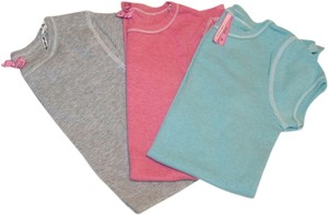 Energie Womens Fit Pastels T Shirt Grey, blue, pink