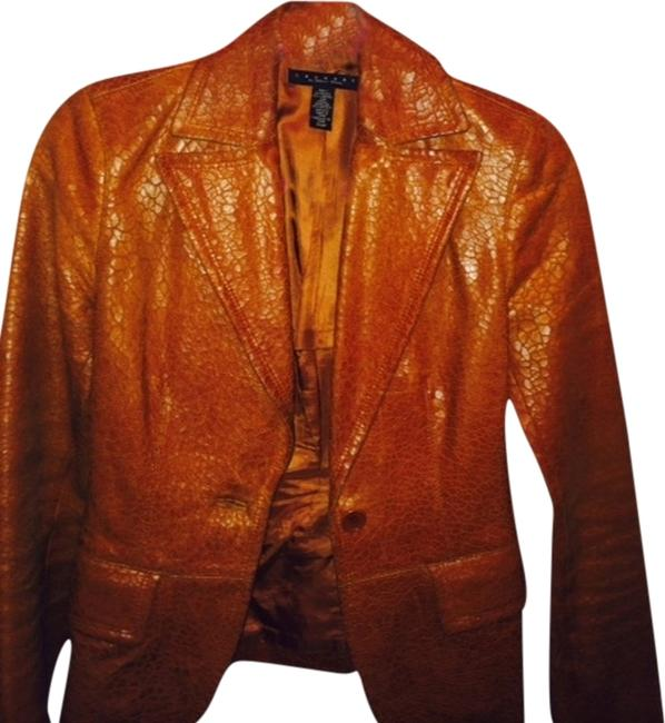 Preload https://item1.tradesy.com/images/laundry-by-shelli-segal-textrued-leather-brown-leather-jacket-1564950-0-0.jpg?width=400&height=650