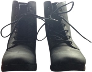 All Man Made Material black Boots