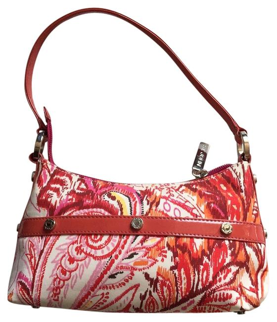 Item - Printed Handbang Pink Multi Fabric & Patent Leather Shoulder Bag